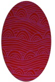 rug #398469 | oval red graphic rug