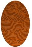 rug #398481   oval red-orange rug