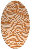 rug #398485 | oval red-orange graphic rug