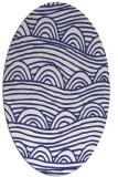 rug #398497 | oval white abstract rug