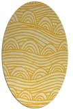 rug #398505   oval yellow abstract rug