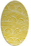 rug #398517 | oval white abstract rug