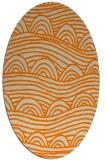rug #398533 | oval beige graphic rug