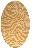 rug #398565   oval light-orange abstract rug