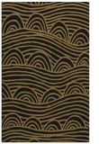 rug #398589 |  mid-brown graphic rug