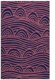 rug #398661 |  blue-violet graphic rug