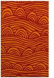 rug #398757 |  orange graphic rug