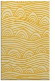 rug #398857 |  yellow abstract rug