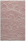 rug #398909 |  pink abstract rug