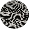 rug #398925 | round black abstract rug