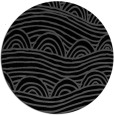 rug #398929 | round black abstract rug
