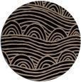 rug #398933 | round beige abstract rug