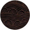 rug #398937 | round black abstract rug