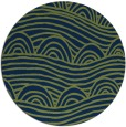 rug #398957 | round blue abstract rug