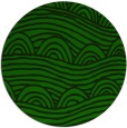 rug #398989 | round green graphic rug