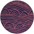 rug #399013 | round pink abstract rug