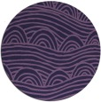 rug #399017 | round blue-violet abstract rug