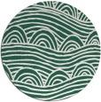 rug #399053 | round green popular rug