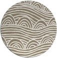 rug #399061 | round mid-brown graphic rug