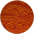 rug #399109 | round red-orange abstract rug