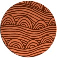 rug #399121 | round red-orange abstract rug
