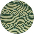 rug #399125 | round yellow popular rug