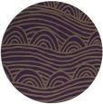 rug #399153 | round purple abstract rug