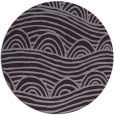 rug #399157 | round purple abstract rug