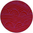 rug #399173 | round red graphic rug