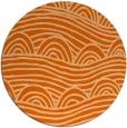 rug #399181 | round red-orange rug