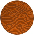 rug #399185 | round red-orange abstract rug