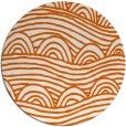 rug #399189 | round red-orange graphic rug
