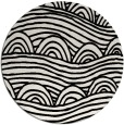 rug #399193 | round black abstract rug