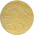 rug #399209 | round yellow graphic rug