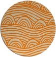 rug #399237 | round orange graphic rug