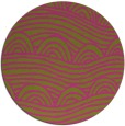rug #399249 | round light-green abstract rug