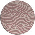 rug #399261   round pink abstract rug