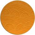 rug #399265 | round light-orange abstract rug