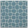 rug #399649 | square blue-green check rug