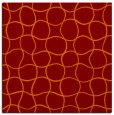 rug #399813 | square red-orange circles rug