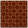 rug #399825 | square red-orange circles rug