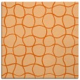 rug #399885 | square red-orange circles rug