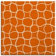 rug #399893 | square red-orange circles rug