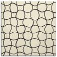rug #399933 | square black circles rug