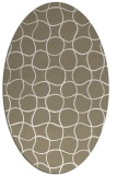 rug #399977 | oval white check rug