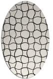 rug #399981 | oval white check rug