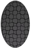 rug #399985 | oval black circles rug