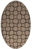 rug #399989 | oval beige check rug