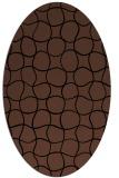 rug #399993   oval brown check rug