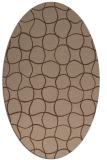 rug #399996 | oval check rug